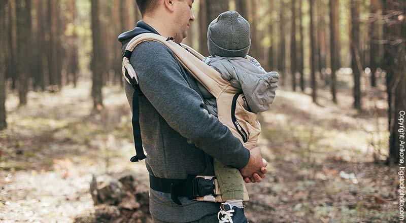 Babytrage für Vater und Kind