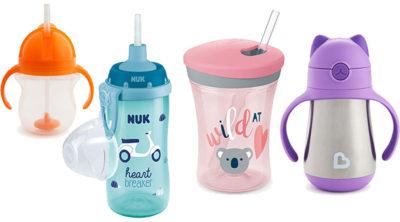 Babyflasche mit Trinkhalm