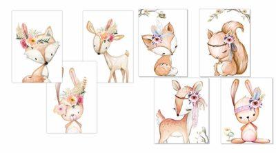 Wandbilder für Babyzimmer Mädchen