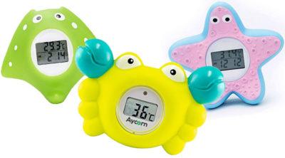 Badethermometer mit Digitalanzeige