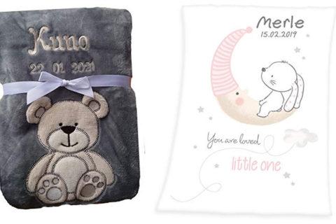 Decken für Babys mit Namen